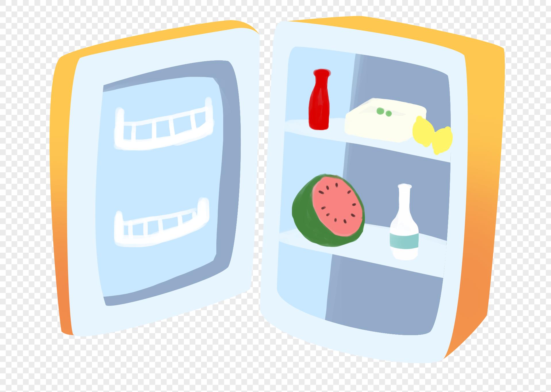 图片 素材 手绘/卡通元素 卡通冰箱.