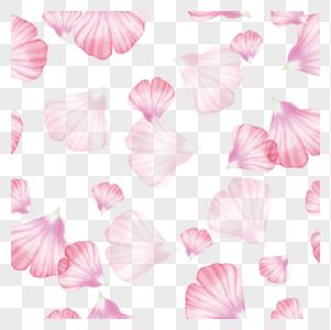 粉色清新花瓣图片