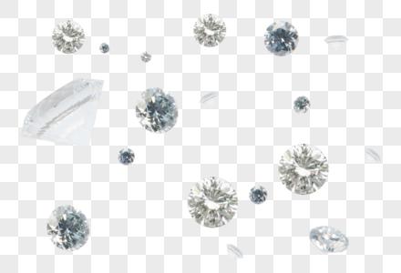 蓝色简约珠宝钻石图片