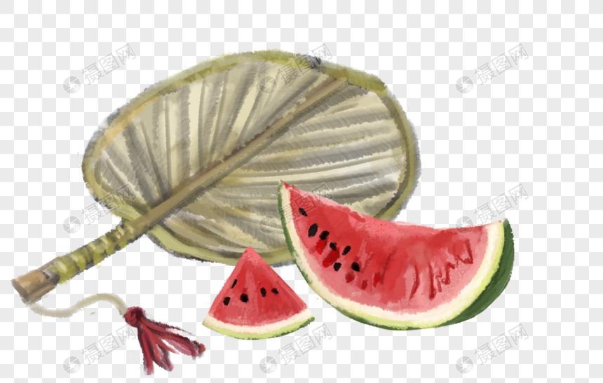 夏季水墨插画图片