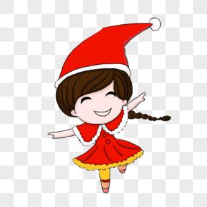 圣诞节快乐的女孩图片