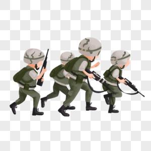 军训卡通人物图片