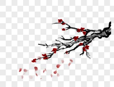 水墨树木素材图片