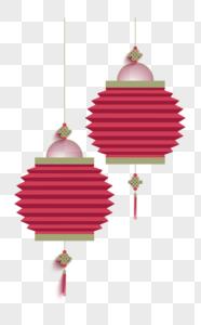 红色灯笼折叠图片