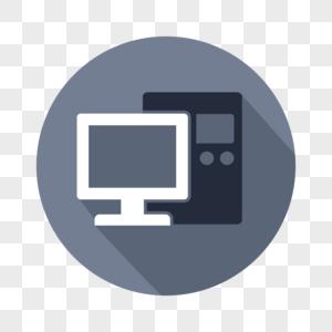 矢量商务电脑图标图片