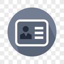 矢量商务证件图标图片