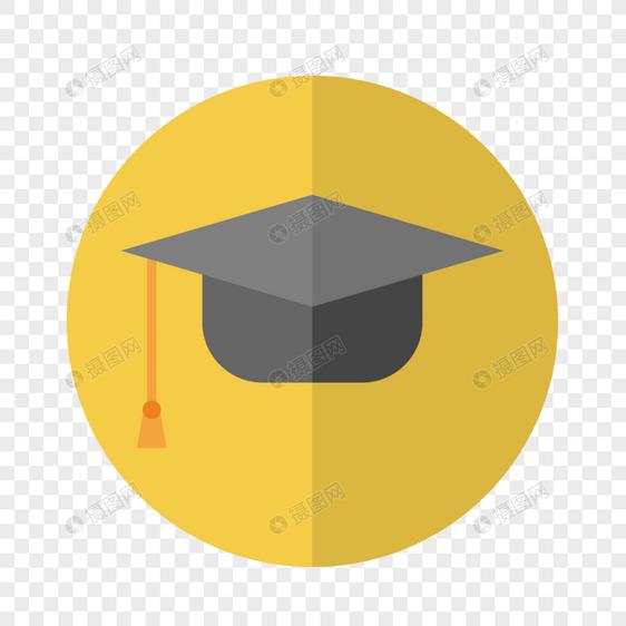 学士帽填色图标
