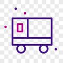 货车线性图标图片