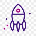 火箭线性图标图片