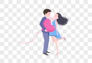 七夕情人节插画图片