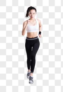 健身运动跑步奔跑的年轻女性图片