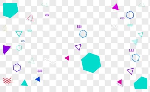孟菲斯风格线条点线面不规则几何形状素材图片