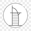 阿拉伯塔线性图标图片