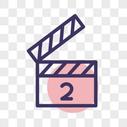 电影线性图标图片
