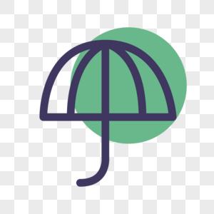 雨伞线性图标图片