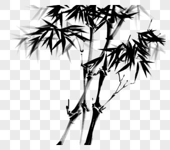中国风水墨写意竹子图片