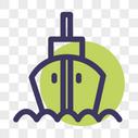 轮船线性图标图片