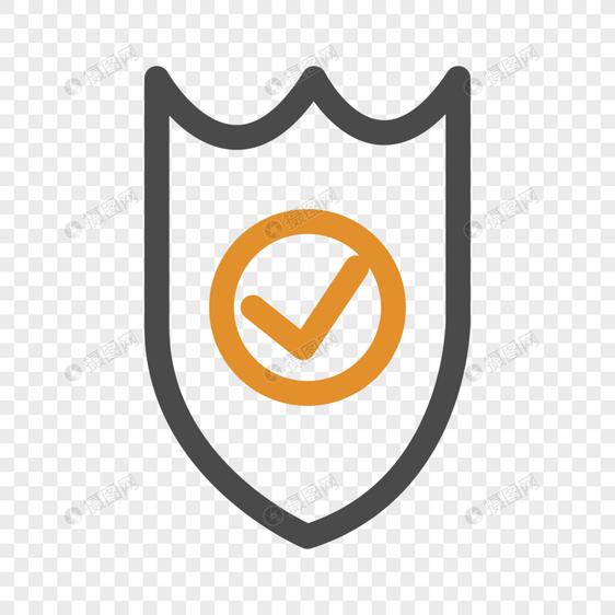 护盾线性图标元素素材ai格式_设计素材免费下载_vrf