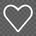 爱心线性图标图片