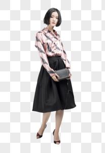 女子服装展示底图图片