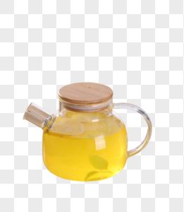 茶道玻璃茶壶柠檬水图片