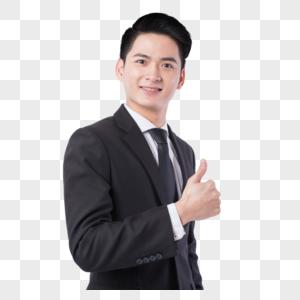 竖起大拇指的商务男士图片
