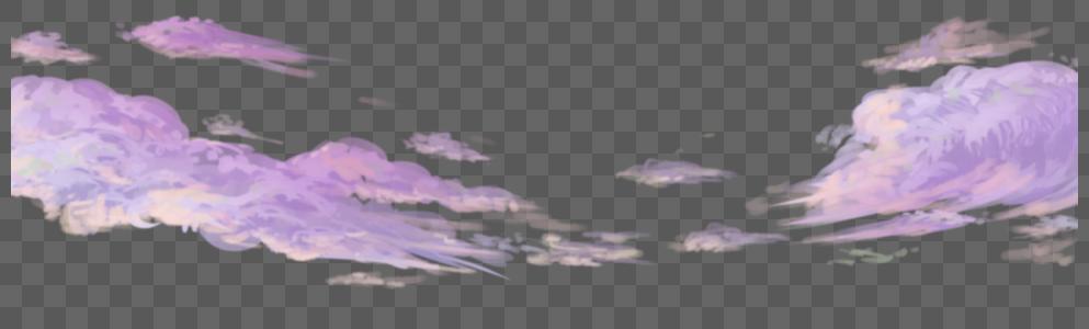 天空云朵手绘元素图片