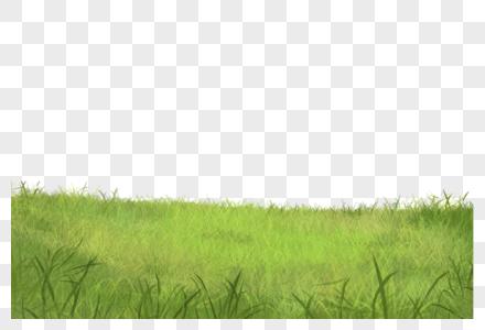 草地手绘素材高清图片