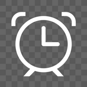 闹钟线性图标图片