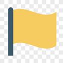 旗帜填色图标图片