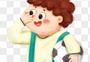 抱足球的小男孩图片
