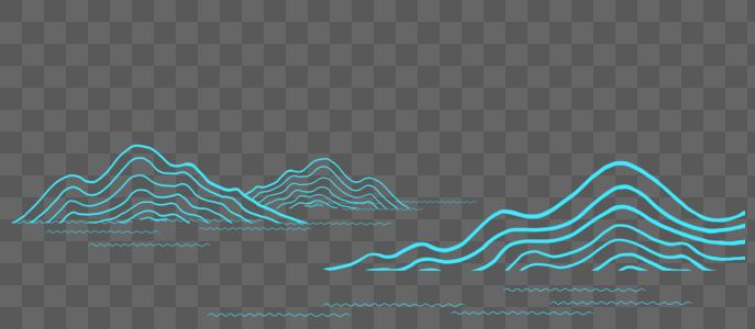 山水元素图片
