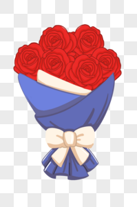 卡通一束玫瑰图片