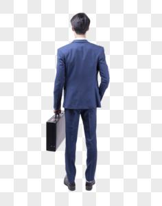 商务人士拎包站立图片