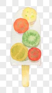 手绘水彩棒冰图片