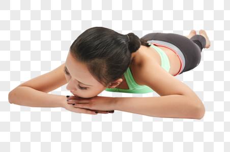 青年女性趴着休息图片