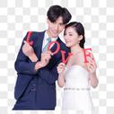 情侣婚纱手持love字母图片