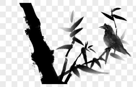 中国风水墨竹图片