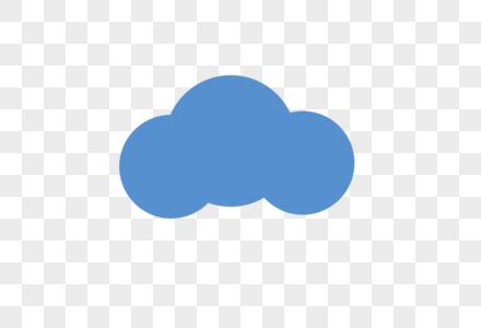 蓝色云图片