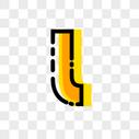 英文字母L字体设计图片