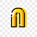 英文字母N 字体设计图片