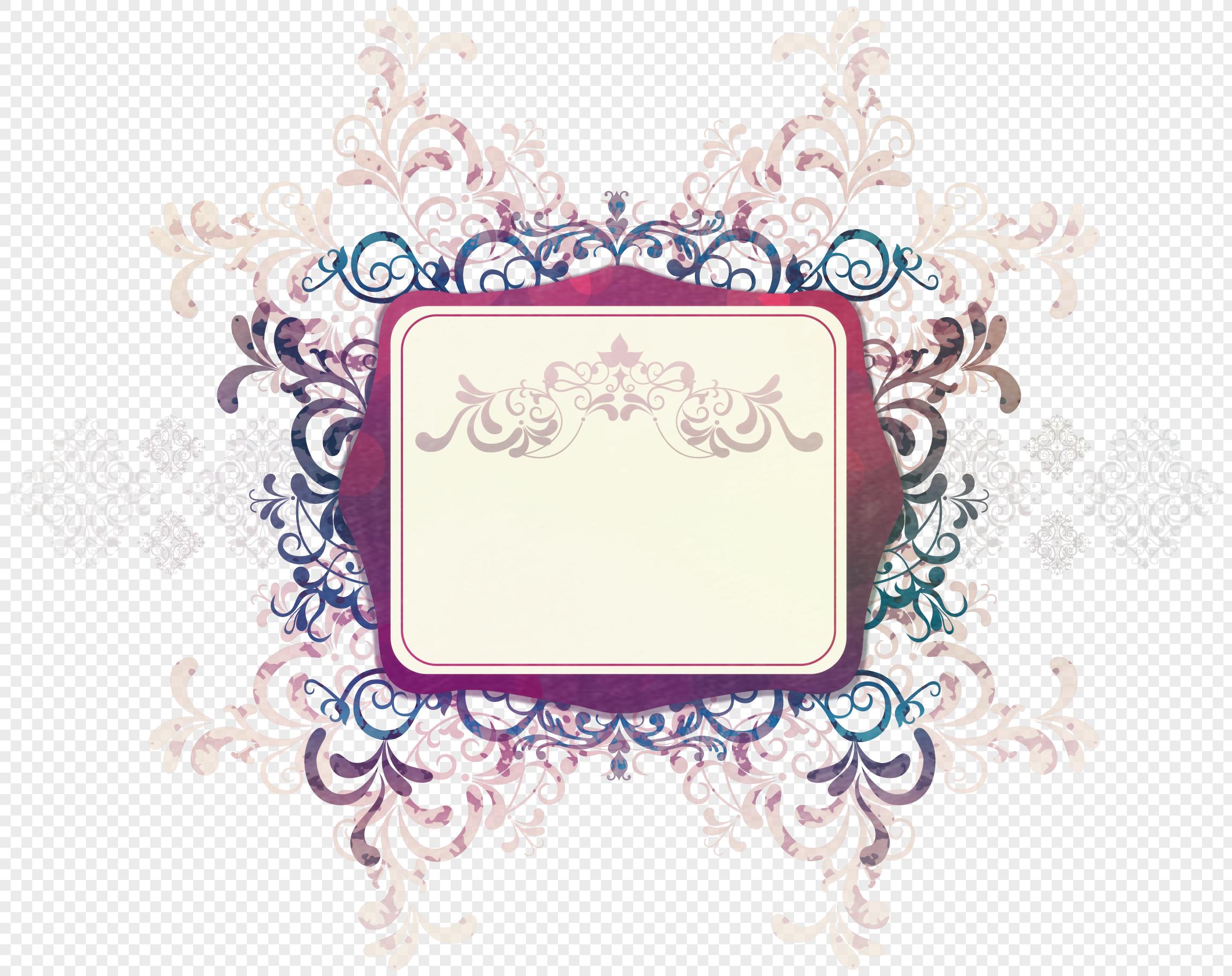 欧式花纹边框元素素材png格式_设计素材免费下载_vrf图片