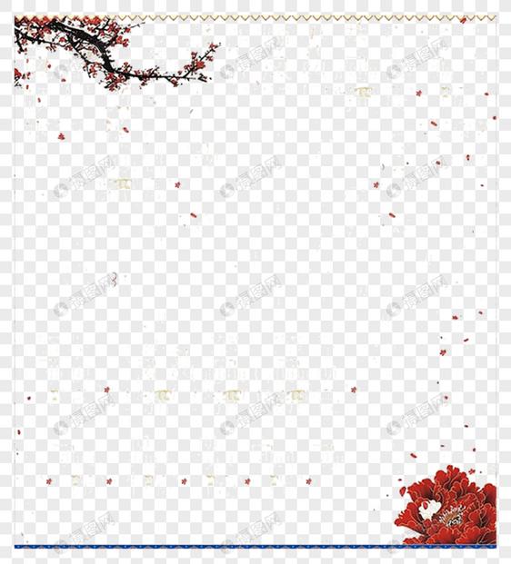 梅花边框元素素材格式_设计素材免费下载_vrf高清图片