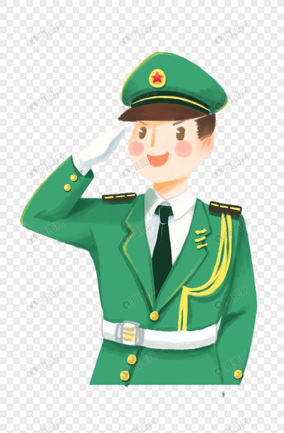 士兵漫画版手绘