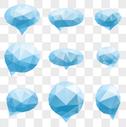 蓝色晶体对话框图片