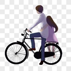 自行车上情侣图片