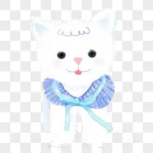 白色可爱小狗图片