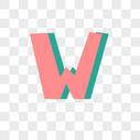 英文字母W字体设计图片