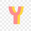 英文字母Y字体设计图片