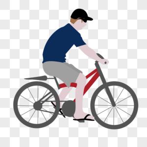 骑单车的男人图片